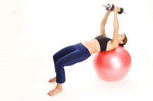 fitball dumbbell flyes